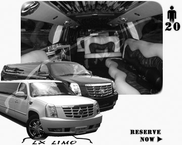Cadillac Escalade 20 passenger SUV Limousine for rental in Louisville, KY