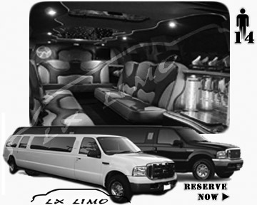 Lincoln Excursion SUV Limo for hire in Louisville, KY