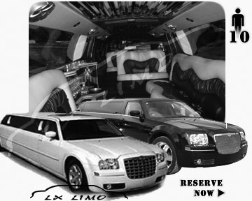 Chrysler 300 Limo for wedding in Louisville
